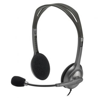 Logitech H110 Stereo Headset Over-the-head Headphone 3.5mm Versatile Adjustable Microphone for PC Mac