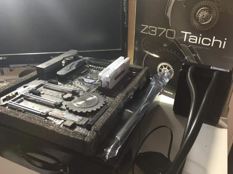 ASRock Z370 Taichi motherboard with box