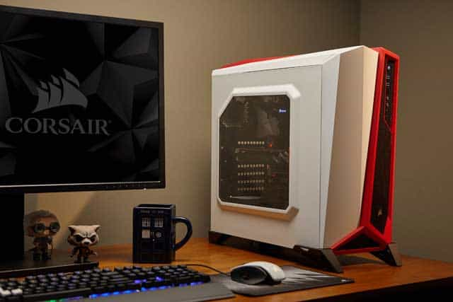 Carbide Series® SPEC-ALPHA Mid-Tower Gaming Case — White/Red